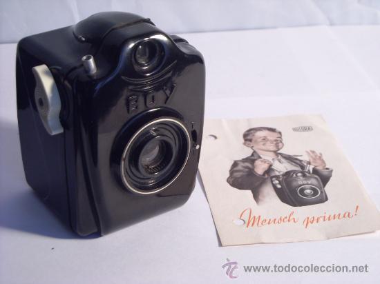 BILORA (KÜRBI & NIGGELOH), BOY BOX BAQUELITA NEGRA FILM 127 AÑO 1949 RARA. (Cámaras Fotográficas - Antiguas (hasta 1950))