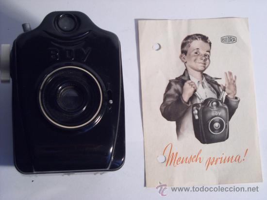 Cámara de fotos: Bilora (Kürbi & Niggeloh), Boy Box Baquelita Negra film 127 año 1949 Rara. - Foto 12 - 31282942
