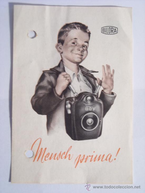 Cámara de fotos: Bilora (Kürbi & Niggeloh), Boy Box Baquelita Negra film 127 año 1949 Rara. - Foto 10 - 31282942