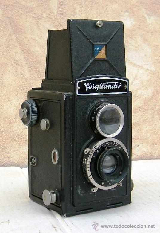 CAMARA VOIGTLANDER BRILLANT ANTIGUA, CON CARRETE ORIGINAL, OBJETIVO COMPUR, DATA DE 1923, CAM365 (Cámaras Fotográficas - Antiguas (hasta 1950))