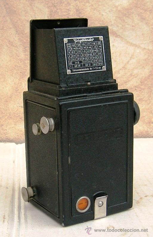 Cámara de fotos: camara voigtlander brillant antigua, con carrete original, objetivo compur, data de 1923, cam365 - Foto 3 - 31539435