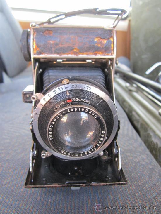 CAMARA FOTOGRAFICA DE FUELLE - COMPUR. OBJETIVO SCHNEIDER - CREO QUE FUNCIONA EL DISPARADOR. (Cámaras Fotográficas - Antiguas (hasta 1950))