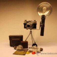 Cámara de fotos: CAMARA DE TELEMETRO KODAK35, FLASH, FILTROS, PARASOL, FUNDA Y MANUAL. Lote 33740347