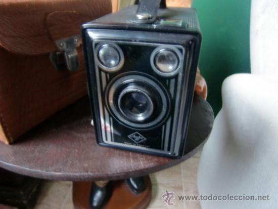 CAMARA DE FOTOS DE CAJON AGFA CON SU BOLSA ORIGINAL (Cámaras Fotográficas - Antiguas (hasta 1950))