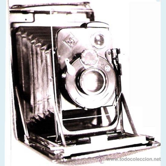 CAMARA DE FOTOS EXTRAPLANA WERKSTATTEN ALEMANA, CON CORTINILLA, MEDIDOR DE LUZ LENTE VARUO:1:100 (Cámaras Fotográficas - Antiguas (hasta 1950))