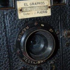 Cámara de fotos: ANTIGUA CÁMARA FRANCESA DE CAJÓN PARA PLACAS (S. XIX). Lote 34458298