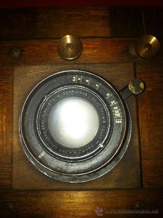 Cámara de fotos: camara de fotos de fuelle de madera - Foto 7 - 34723143