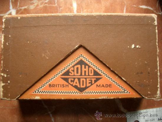 Cámara de fotos: Antigua Soho Cadet de baquelita y fuelle marrón en su caja original Art Decó - Foto 10 - 36607492