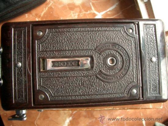 Cámara de fotos: Antigua Soho Cadet de baquelita y fuelle marrón en su caja original Art Decó - Foto 9 - 36607492