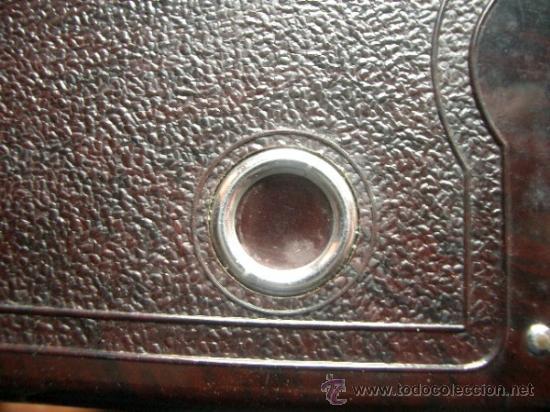 Cámara de fotos: Antigua Soho Cadet de baquelita y fuelle marrón en su caja original Art Decó - Foto 6 - 36607492