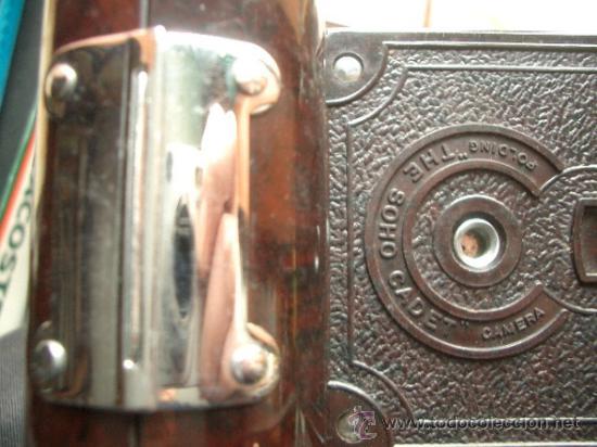 Cámara de fotos: Antigua Soho Cadet de baquelita y fuelle marrón en su caja original Art Decó - Foto 5 - 36607492