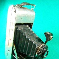 Cámara de fotos: APEM-APM-FUELLE-OBJETIVO ILEX-USA FILM 241-T-B-25-50-100-DIAFR.8-11-16-22-32-CARCASA PLATEADA-CAMARA. Lote 40834127