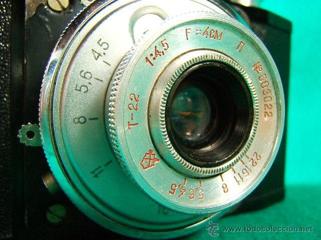 Cámara de fotos: CMEHA 2-POR CASA LOMO-MADE BY GOMZ URSS-BAQUELITA-OBJETIVO INTERCAMBIABLE-1:4,5-CAMARA FOTOGRAFICA.. - Foto 2 - 40836020