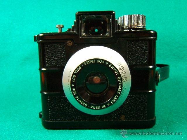 ILFORD ENVOY DE BAQUELITA-OBJETIVO EXTENSIBLE OPTIMAX-MADE IN ENGLAND-ESTILO ART DECO-CAMARA FOTOS.. (Cámaras Fotográficas - Antiguas (hasta 1950))