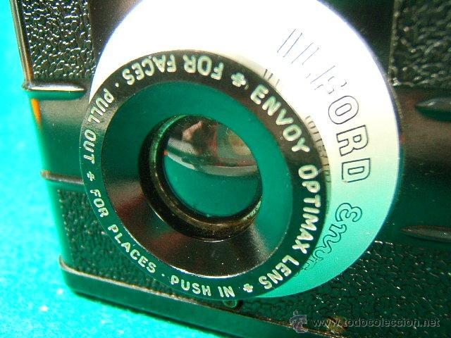 Cámara de fotos: ILFORD ENVOY DE BAQUELITA-OBJETIVO EXTENSIBLE OPTIMAX-MADE IN ENGLAND-ESTILO ART DECO-CAMARA FOTOS.. - Foto 3 - 40850709