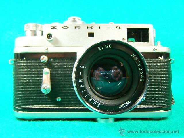 ZORKI 4-Nº 67826126-OBJETIVO JUPITER 8-Nº 6760349-MADE USSR-URSS-PERFECTA COPIA LEICA-CAMARA FOTOS.. (Cámaras Fotográficas - Antiguas (hasta 1950))