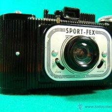 Cámara de fotos: SPORT FEX-BAQUELITA-MADE IN FRANCE-FILM 6X9-2 POSICIONES DIAFRAGMA Y 2 VELOCIDADES-ART DECO-CAMARA... Lote 40862626