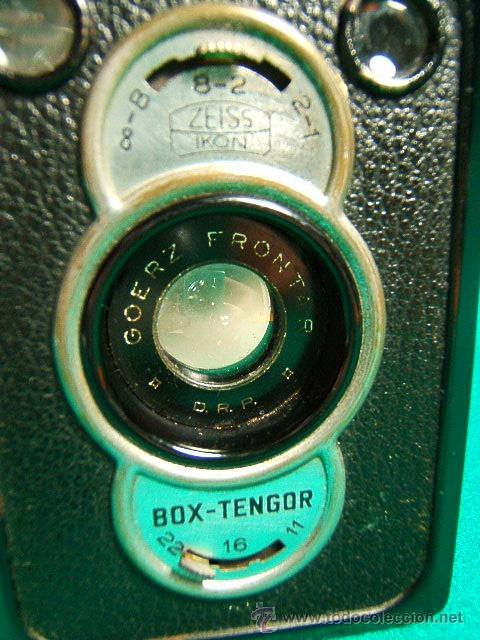 Cámara de fotos: ZEISS IKON BOX TENGOR 55/2-CAJON-MADE IN D.R.P.-OBJETIVO GOERZ FRONTAR-FILM 6X9-CAMARA FOTOGRAFICA.. - Foto 2 - 40873365