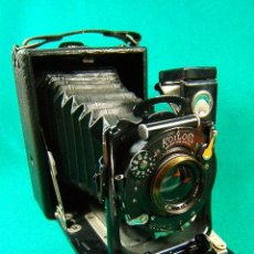 Cámara de fotos: KOILOS ROLLEX PATENT ANG DRGM-FUELLE MADE IN ENGLAND-OBJETIVO ALDIS F/6-22X14X11 CM-2 VISORES-1918 . Lote 41051540