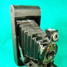 Cámara de fotos: KODAK NO.2-A FOLDING CARTRIDGE PREMO-FUELLE MADE IN U.S.A.-OBJETIVO KODEX Nº 1-20X9X16 CM-AÑO 1910. . Lote 41054906