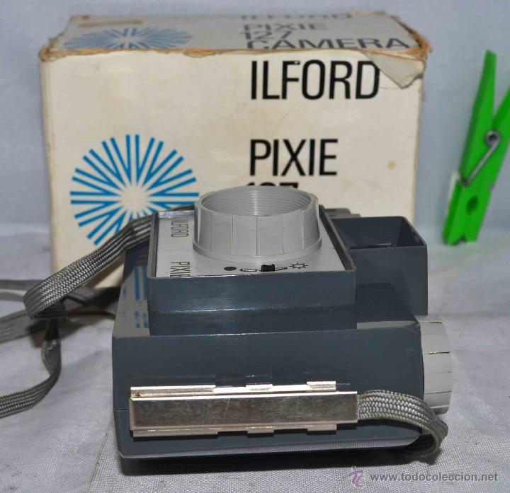 Cámara de fotos: MUY RARA Y SENCILLA...ILFORD PIXIE, 127 FILM+CAJA..INGLATERRA 1966..BUEN ESTADO..FUNCIONA..UNICA - Foto 4 - 41354197