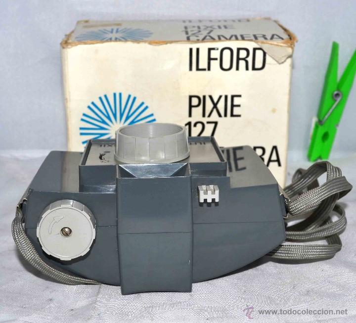 Cámara de fotos: MUY RARA Y SENCILLA...ILFORD PIXIE, 127 FILM+CAJA..INGLATERRA 1966..BUEN ESTADO..FUNCIONA..UNICA - Foto 5 - 41354197