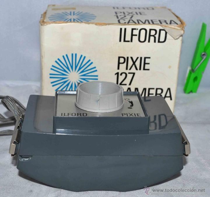 Cámara de fotos: MUY RARA Y SENCILLA...ILFORD PIXIE, 127 FILM+CAJA..INGLATERRA 1966..BUEN ESTADO..FUNCIONA..UNICA - Foto 7 - 41354197