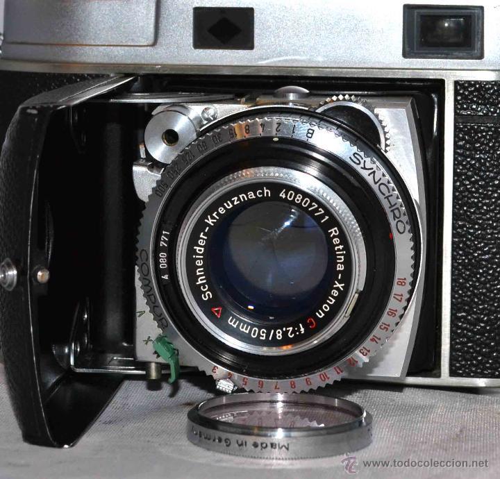 Cámara de fotos: TELEMETRICA..KODAK RETINA II C +FUNDA(TYPE 020).Nº261965...ALEMANIA 1954..MUY BUEN ESTADO..FUNCIONA - Foto 3 - 42314142