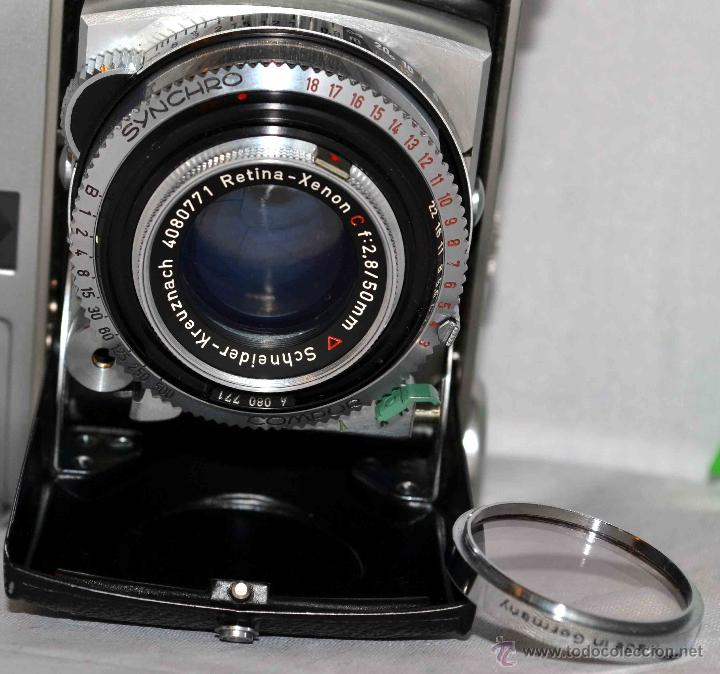 Cámara de fotos: TELEMETRICA..KODAK RETINA II C +FUNDA(TYPE 020).Nº261965...ALEMANIA 1954..MUY BUEN ESTADO..FUNCIONA - Foto 4 - 42314142