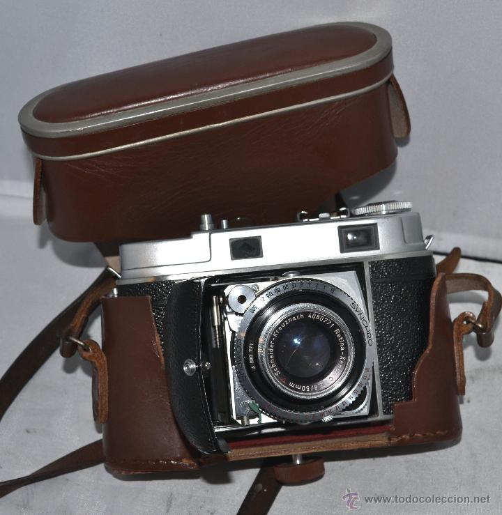 Cámara de fotos: TELEMETRICA..KODAK RETINA II C +FUNDA(TYPE 020).Nº261965...ALEMANIA 1954..MUY BUEN ESTADO..FUNCIONA - Foto 30 - 42314142