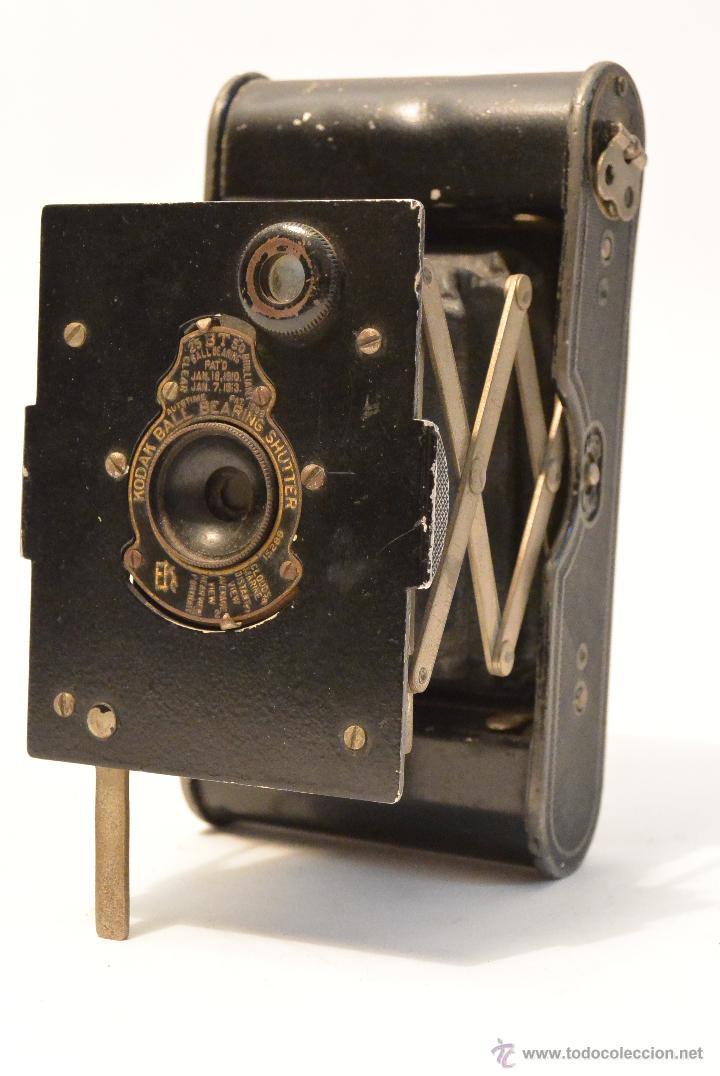 Cámara de fotos: Cámara de fuelle antigua Kodak Vest Pocket Autographic - Foto 2 - 43457870