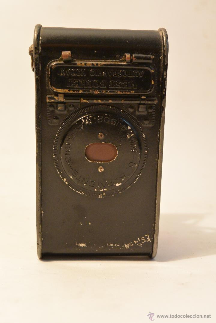 Cámara de fotos: Cámara de fuelle antigua Kodak Vest Pocket Autographic - Foto 5 - 43457870