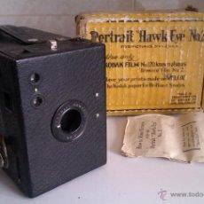 Cámara de fotos: MUY ANTIGUA CAMARA BROWNIE PORTRAIT HAWKEYE Nº2 FABRICADA EN UNITED KINGDOM EN EL AÑO 1920 . Lote 46233084