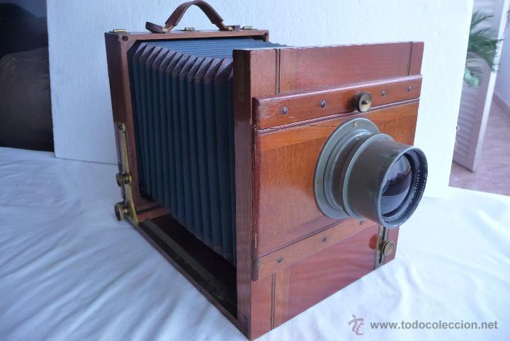 Camara antigua de madera y fuelle verde comprar c maras - Camaras fotos antiguas ...