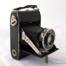 Cámara de fotos: DEMARIA- LA PIERRE DEHEL CAMARA FUELLE ANTIGUA - RARA, 6X4,5 CM. Lote 52487404