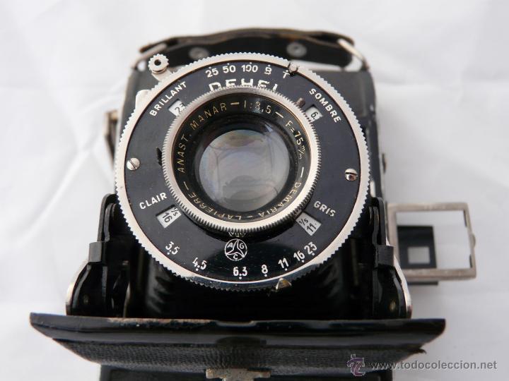 Cámara de fotos: DEMARIA- LA PIERRE DEHEL CAMARA FUELLE ANTIGUA - RARA, 6X4,5 CM - Foto 7 - 52487404