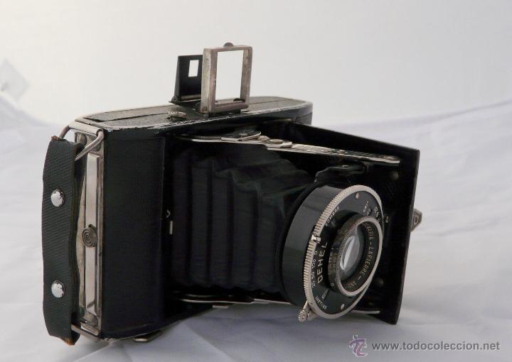 Cámara de fotos: DEMARIA- LA PIERRE DEHEL CAMARA FUELLE ANTIGUA - RARA, 6X4,5 CM - Foto 8 - 52487404