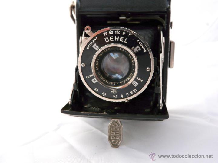 Cámara de fotos: DEMARIA- LA PIERRE DEHEL CAMARA FUELLE ANTIGUA - RARA, 6X4,5 CM - Foto 11 - 52487404