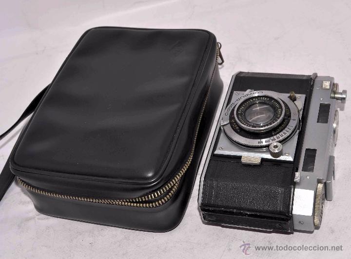 Cámara de fotos: TELEMETRICA, 35mm. RAPID..CALIDAD..ALEMANIA 1947..AGFA KARAT 12/2.8+FUNDA..MUY BUEN ESTADO..FUNCIONA - Foto 2 - 52891616