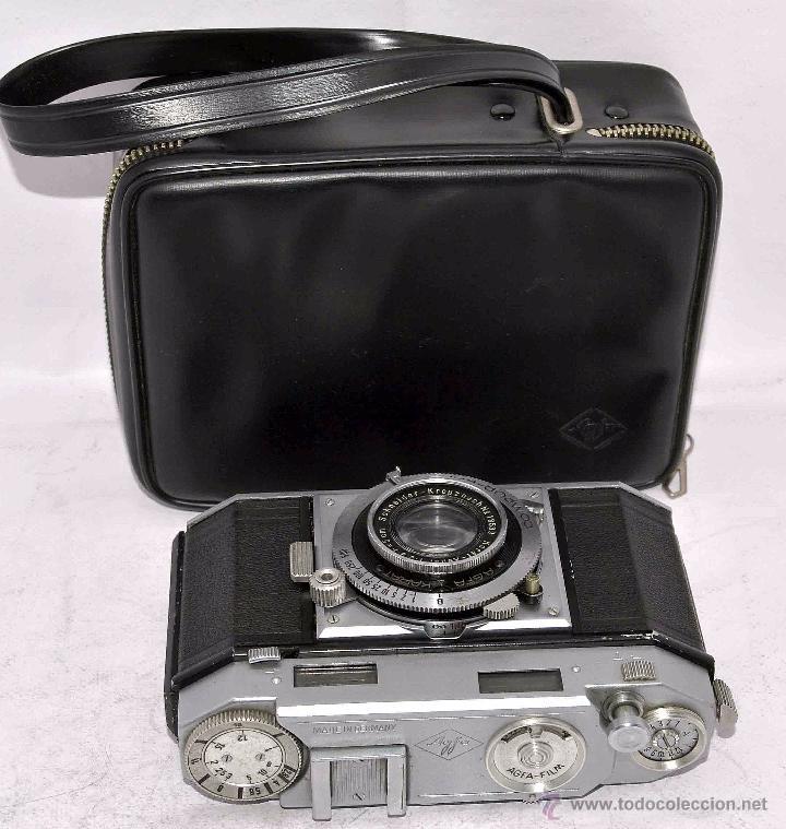 Cámara de fotos: TELEMETRICA, 35mm. RAPID..CALIDAD..ALEMANIA 1947..AGFA KARAT 12/2.8+FUNDA..MUY BUEN ESTADO..FUNCIONA - Foto 3 - 52891616