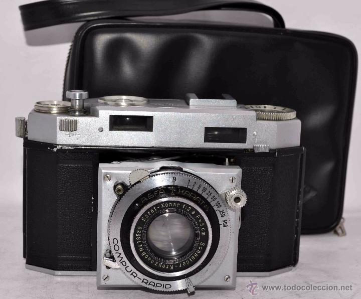 Cámara de fotos: TELEMETRICA, 35mm. RAPID..CALIDAD..ALEMANIA 1947..AGFA KARAT 12/2.8+FUNDA..MUY BUEN ESTADO..FUNCIONA - Foto 4 - 52891616