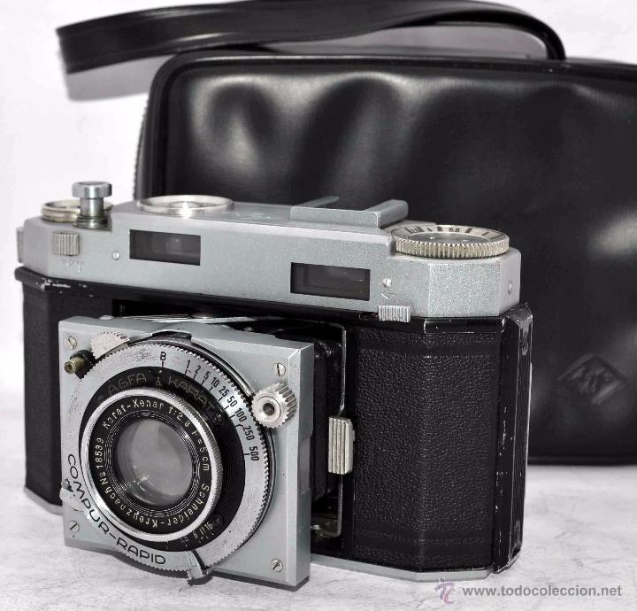Cámara de fotos: TELEMETRICA, 35mm. RAPID..CALIDAD..ALEMANIA 1947..AGFA KARAT 12/2.8+FUNDA..MUY BUEN ESTADO..FUNCIONA - Foto 5 - 52891616