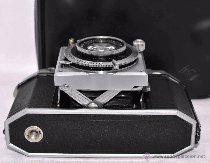 Cámara de fotos: TELEMETRICA, 35mm. RAPID..CALIDAD..ALEMANIA 1947..AGFA KARAT 12/2.8+FUNDA..MUY BUEN ESTADO..FUNCIONA - Foto 12 - 52891616