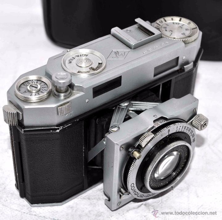Cámara de fotos: TELEMETRICA, 35mm. RAPID..CALIDAD..ALEMANIA 1947..AGFA KARAT 12/2.8+FUNDA..MUY BUEN ESTADO..FUNCIONA - Foto 16 - 52891616