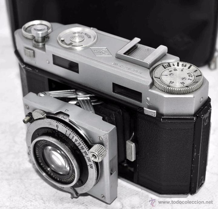 Cámara de fotos: TELEMETRICA, 35mm. RAPID..CALIDAD..ALEMANIA 1947..AGFA KARAT 12/2.8+FUNDA..MUY BUEN ESTADO..FUNCIONA - Foto 18 - 52891616