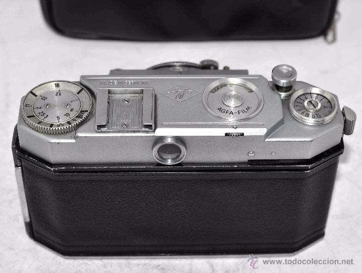 Cámara de fotos: TELEMETRICA, 35mm. RAPID..CALIDAD..ALEMANIA 1947..AGFA KARAT 12/2.8+FUNDA..MUY BUEN ESTADO..FUNCIONA - Foto 20 - 52891616