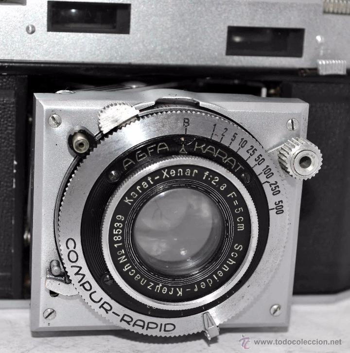Cámara de fotos: TELEMETRICA, 35mm. RAPID..CALIDAD..ALEMANIA 1947..AGFA KARAT 12/2.8+FUNDA..MUY BUEN ESTADO..FUNCIONA - Foto 22 - 52891616