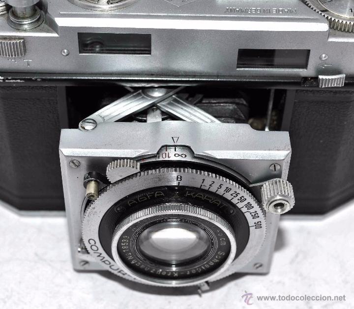 Cámara de fotos: TELEMETRICA, 35mm. RAPID..CALIDAD..ALEMANIA 1947..AGFA KARAT 12/2.8+FUNDA..MUY BUEN ESTADO..FUNCIONA - Foto 23 - 52891616