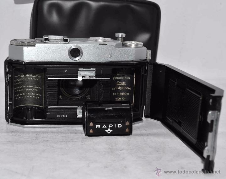 Cámara de fotos: TELEMETRICA, 35mm. RAPID..CALIDAD..ALEMANIA 1947..AGFA KARAT 12/2.8+FUNDA..MUY BUEN ESTADO..FUNCIONA - Foto 24 - 52891616