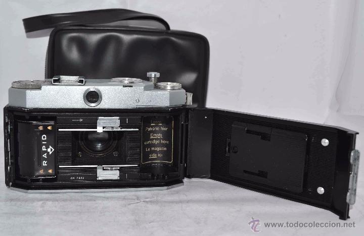 Cámara de fotos: TELEMETRICA, 35mm. RAPID..CALIDAD..ALEMANIA 1947..AGFA KARAT 12/2.8+FUNDA..MUY BUEN ESTADO..FUNCIONA - Foto 25 - 52891616